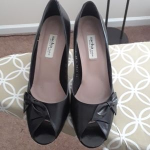 Sacha London black leather pumps